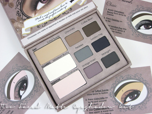 Beauty: Review Too Faced Matte Eyeshadow kit