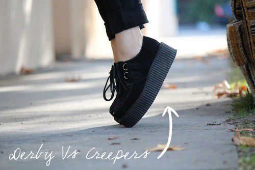 Shoes: Derby VS Creepers