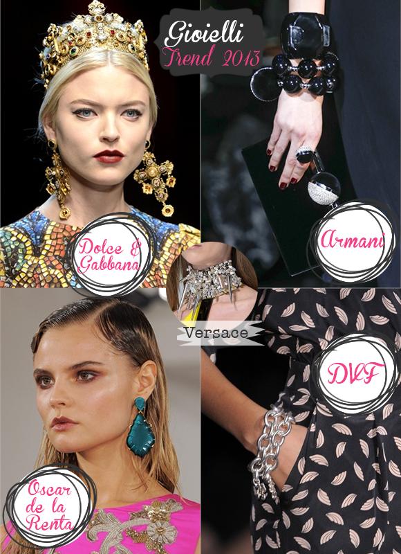 gioielli trend 2013, dolce&gabbana gioielli, armani gioielli, versace gioielli, oscar de la renta gioielli, dvf gioielli, Diane Von Furstenberg gioielli