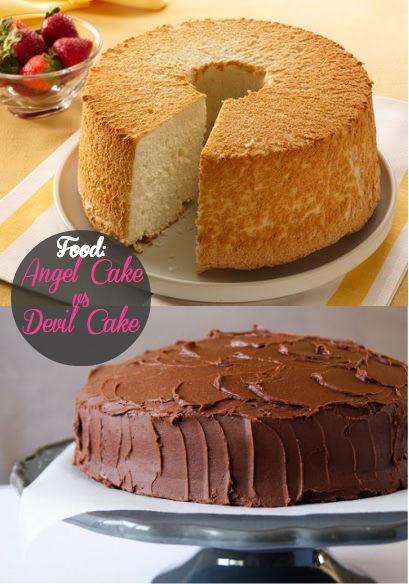 Food: Ricette angel cake vs devil's cake