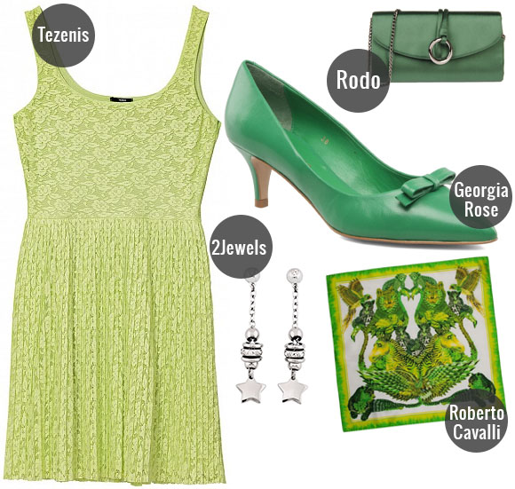 outfit emerald, verde, idee outfit, verde pastello, tezenis, 2jewels,