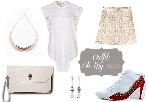 outfit oro, kookai, bershka, olo, 2Jewels, Like Juliette, Sonia By