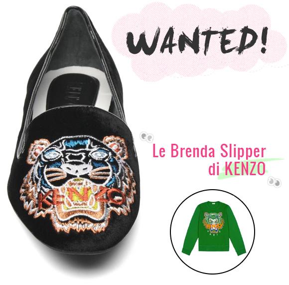 Wanted! Le Brenda Slippers di KENZO