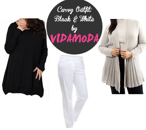Curvy Outfit: Black and White Outfit VidaModa