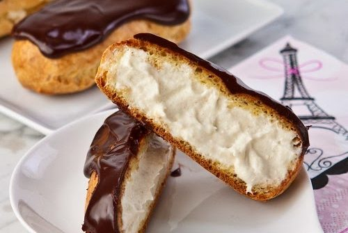 ricetta, eclair, dolce francese