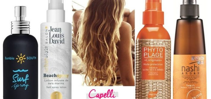 beach waves, capelli, prodotti, bumble and bumble, jean louis david, nash argan, phyto plage